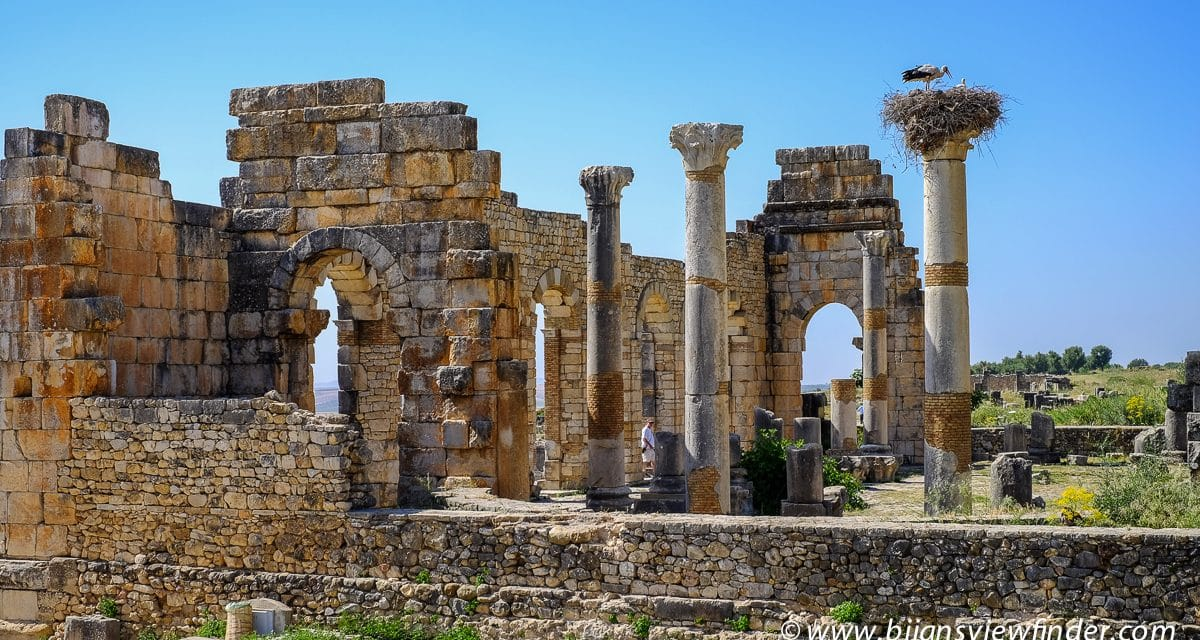 The Roman Ruins of Volubilis Near Moulay Idriss