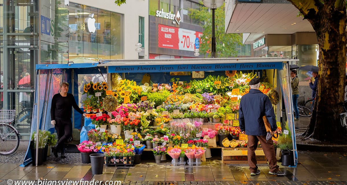 Flower Stand at Marienplatz Munich